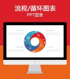 40套流程步骤循环重复关系PPT图表/可视化信息图表下载