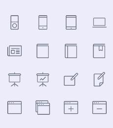 336个线性图标可编辑可改色下载