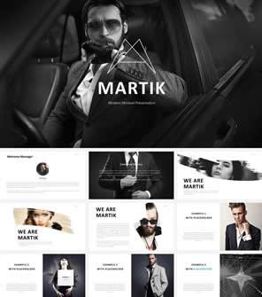 欧美时尚个人简历公司团队介绍商务PPT模板下载