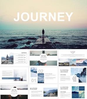 旅游景点推介 旅行日记PPT模板下载