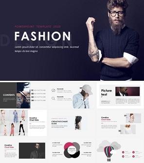 时尚设计工作室公司介绍PPT模板
