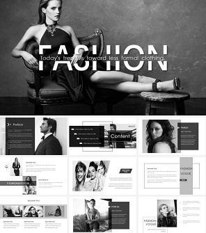 酷黑时尚设计公司介绍工作室PPT模板下载
