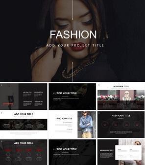 酷黑时尚设计公司介绍PPT模板下载