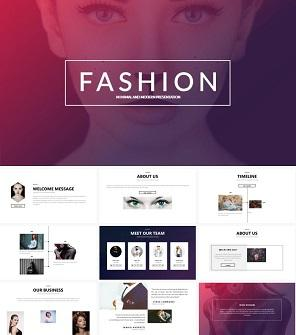 简约时装设计工作室公司介绍PPT模板下载