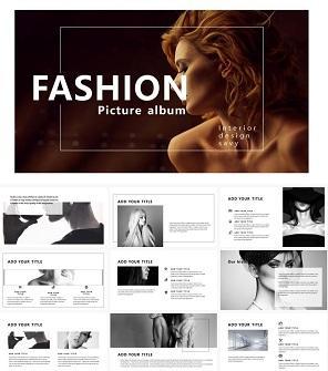 商务时尚杂志风PPT模板下载
