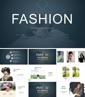 黑白时尚设计PPT模板下载