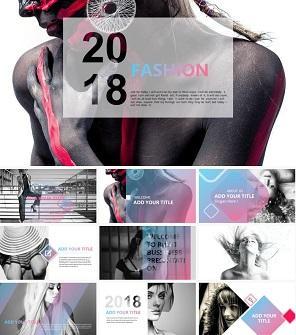 炫彩渐变时尚设计品牌PPT模板下载