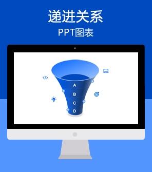 漏斗形可视化PPT图表模板下载