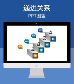 8页质感3D形状PPT图表下载