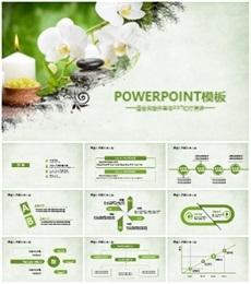 绿色中国风美容养生PPT模板