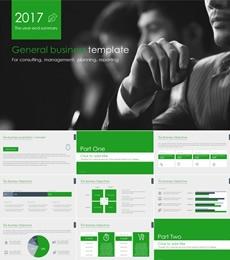 绿色欧美商务风PPT模板