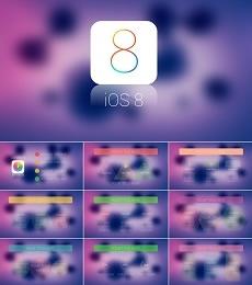 紫色IOS8风格PPT模板