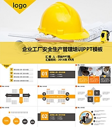 企业工厂安全生产管理培训PPT模板