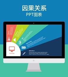 多彩因果关系全屏PPT图表下载