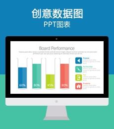 多彩创意设计PPT数据图表下载