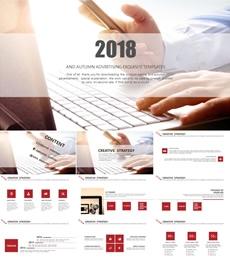 简约商务PPT模板/商业计划书PPT