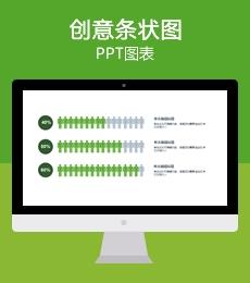 小人比例分析/柱状图/条形图PPT图表下载