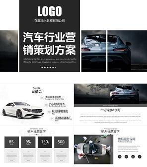 科技风汽车行业营销策划方案PPT模板
