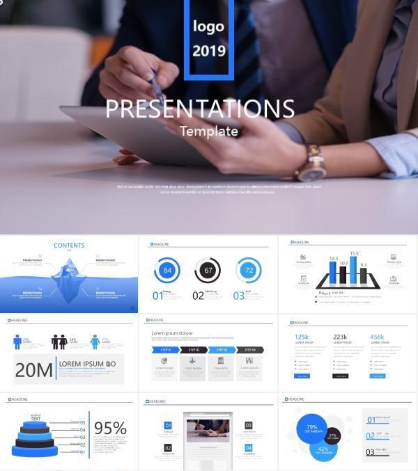 蓝色商务风公司介绍商业计划书PPT模板