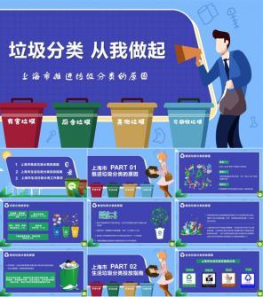 关注环境推进垃圾分类的原因PPT模板下载