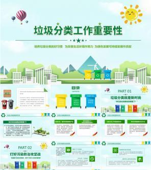环保垃圾分类主题策划方案PPT模板下载